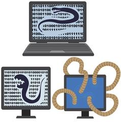Computer infected virus vector