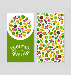 cover for summer menu vector image