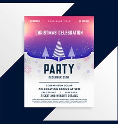 creative christmas flyer template design vector image