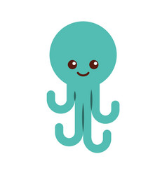 cute octopus isolated icon vector image