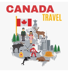 Decorative Map Canada Poster vector