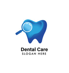 dental logo template dental care icon symbol vector image