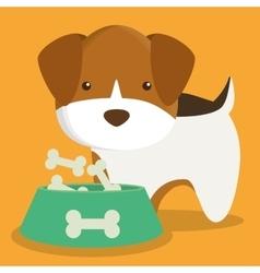 dog cartoon pet design vector image