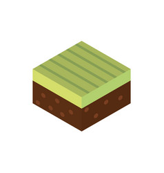 farm field planting agriculture isometric icon vector image