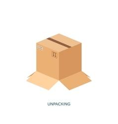 Flat carton box Transport vector image