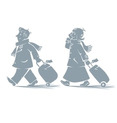 Funny air passengers vector