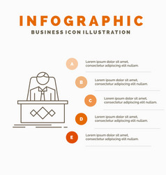 game boss legend master ceo infographics template vector image