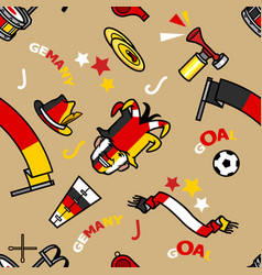 germany soccer supporter gear pattern seamless vector image