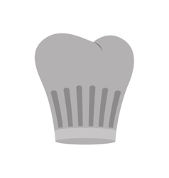 Gray scale silhouette of chefs hat with lines vector