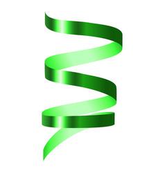 green spiral ribbon mockup realistic style vector image