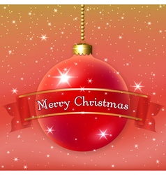 Happe New Year Christmas bauble vector