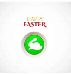 Happy easter button vector image