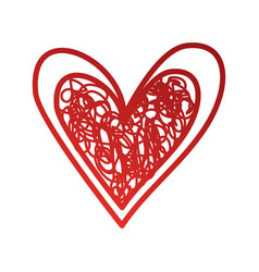 heart love romance passion doodle image vector image