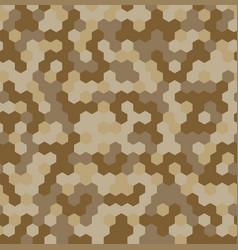 Hexagon desert camouflage seamless patterns vector