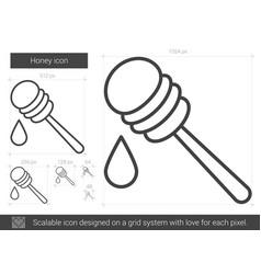 honey line icon vector image