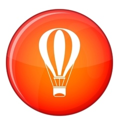 Hot air balloon icon flat style vector