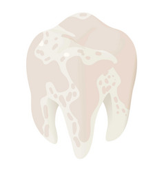 ill tooth icon isometric style vector image