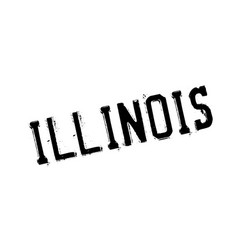 Illinois rubber stamp vector