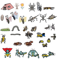 Insects Action vector
