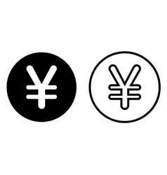 Japanese yen currency symbol icon vector