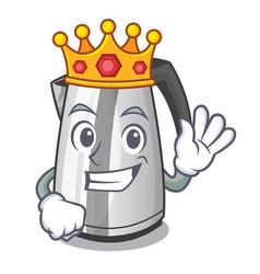 King mascot cartoon household kitchen electric vector