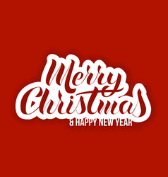 lettering in the popular style of merry christmas vector image