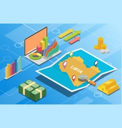 Libya isometric financial economy condition vector