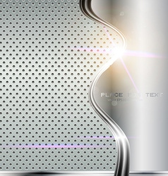 Lux Metal Background with Text Space vector