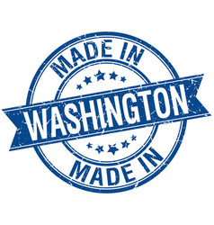 Made in washington blue round vintage stamp vector