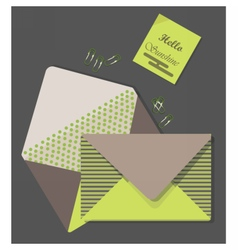 Mail Letters retro envelop vector