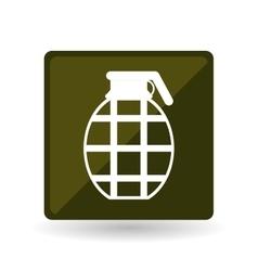 Military grenade design vector