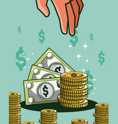 Money and investment cartoons vector