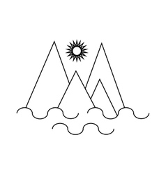 Monte Fitz Roy Patagonia icon outline style vector image