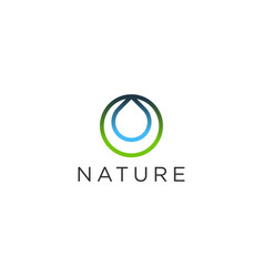 Nature drip water logo modern design vector