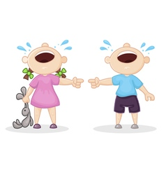 offended boy and girl vector image