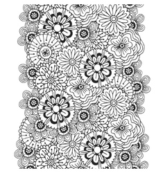 pattern with abstract ornament of flowers vector image