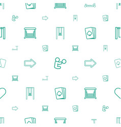 playing icons pattern seamless white background vector image