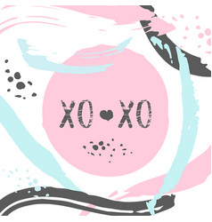 poster with typography xo xo lettering vector image