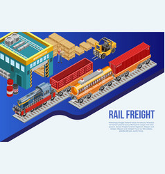 railway freight delivery design vector image