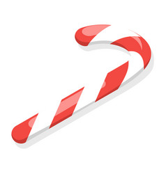 red candy stick icon isometric style vector image