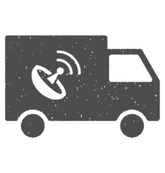 Remote Control Van Icon Rubber Stamp vector
