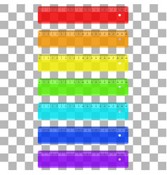 Ruler plastic transparent vector