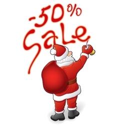 Santa Claus sale - 50 vector image