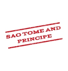 Sao Tome And Principe Watermark Stamp vector