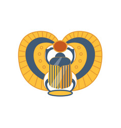 Scarab egyptian sacred bug symbol of the sun vector