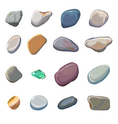 Sea stones isolated on white background vector