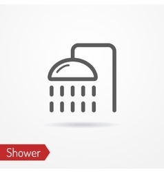 Shower silhouette icon vector image