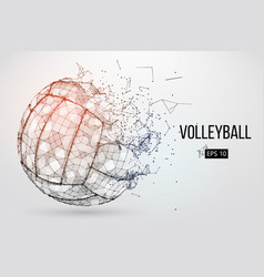 Silhouette volleyball ball vector