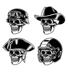 skull characters collection vector image