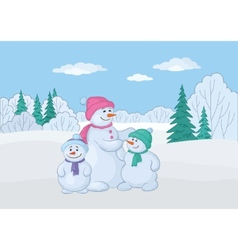 Snowmen family vector